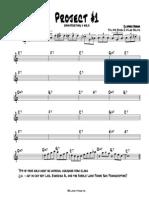 Jazz Improvisation Project 1 - Eb Part