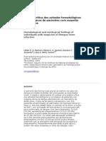 Análise Crítica Dos Achados Hematológicos e Sorológicos de Pacientes Com Suspeita de Dengue