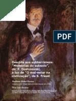 PEREIRA Et ROEFERO - Descida Aos Subterrâneos - Memórias Do Subsolo de F. Dostoievski à Luz de O Mal-estar Na Civilização de S. Freud