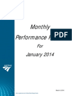 Amtrak Monthly Performance Report January 2014