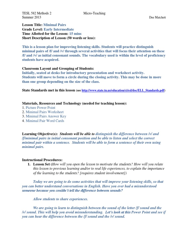 worksheet Minimal Pairs Worksheets micro t minimal pairs educational assessment semiotics