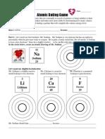 atomic dating game worksheet