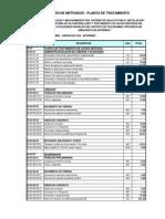 Resumen de Metrados de Ptar Ti, Fg y Ls