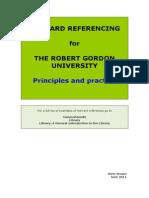 RGU Harvard Prinicples and Practice