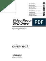 Manual Máquina Sony Vhs a Dvd