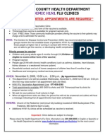 H1N1 Flu Clinic Flyer- English Spanish- 11 2 09