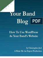 Your Band Blog Sample