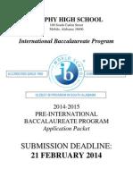 Murphy HS IB Application 2014-15 Fillable 20pt