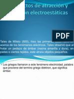 Efectos de Atracción y Repulsión Electroestáticas