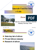 Yang, Silicon Materials Used for Solar Cells