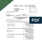 Prueba de Sistema de Ecuaciones Mod 1