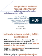 Advanced Multi Scale Computational Modeling and Simulation