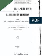 Los Dones Del Espiritu Santo y La Perfeccion Cristiana