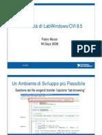 Le novità di LabWindows/CVI 8.5