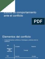 2.4. Comportamientos Ante El Conflicto