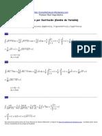 Ejercicios Resueltos de Integral 2 Integrales Por Sustitucic3b3n o Cambio de Variable