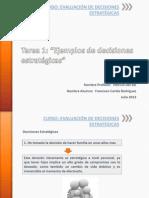 Tarea 1 Ejemplos de Decisiones Estratégicas Francisco Cortés