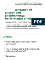 Characterization of Energy and Environmental Performance of Materials