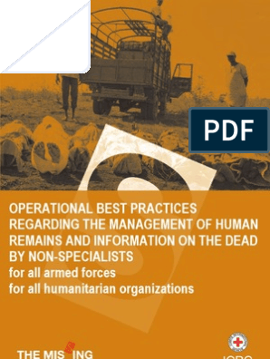 Operational best practices regarding the management of human