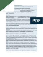 Escrito o Modelo de Plan de Prevision Social