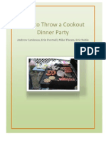 how to throw a cookout dinner party