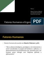 Fatores Humanos e Ergonomia
