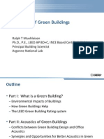 Acoustics of Green Buildings