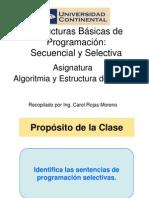 ALGOR_ES_DATOS Semana2 SentenciasProgramacion SecuencialSelectiva