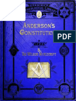 Anderson's Constitutions for Freemasons, 1723