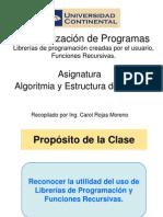 ALGOR ES DATOS Semana5 Modularizacion-LibreriasRecursividad