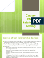 Cause Effect Relationship Testing