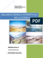 Balance Hidrico Superficial