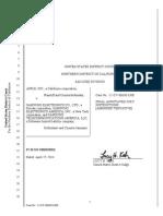 Apple-Samsung Docket 1837 Amended Tentative Final Jury Instructions
