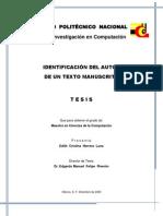 INV-Identificacion Del Autor de Un Texto Manuscrito-IPN