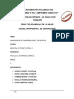 Odontologia Medicina II Monografia Grupal If