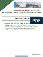 IBPS CWE Guide Free E Book