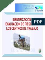 Presentacion Sobre Identificacion y Evaluacion de Riesgos en Los Centros de Trabajo