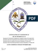 Licenciatura en Matematicas Final 16 Enero 2013