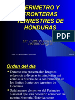 Perimetro y Fronteras Terrestres de Honduras