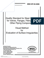 MSS-SP-055 Visual Method for Evaluation of Surface Imperfection for Steel Casting for Valves 2006