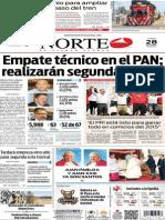 Periódico Norte de Ciudad Juárez edición impresa del 28 abril del 2014