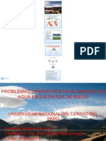 PRESENTACION Problemas Operativos en El Manejo Del Agua