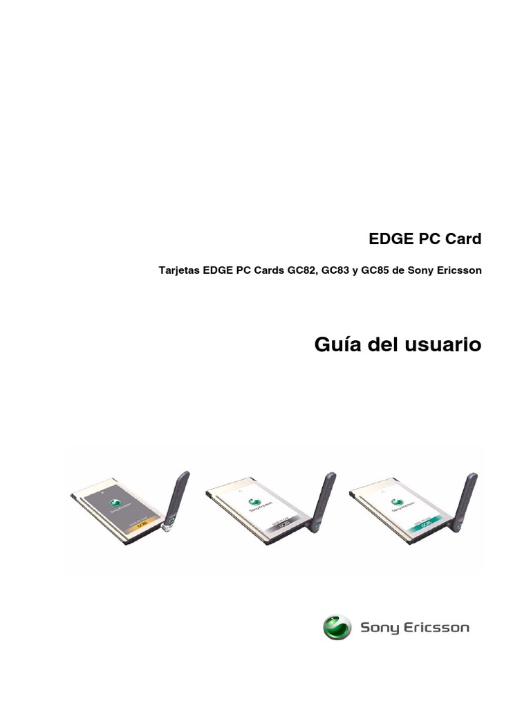 Tarjetas EDGE PC Cards GC82, GC83 y GC85 de Sony Ericsson