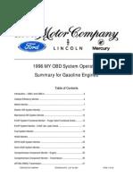 1996 Ford Gasoline Engine Obd