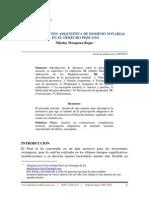 La Prescripción Adquisitiva de Dominio Notarial