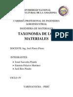 Taxonomia de Materiales