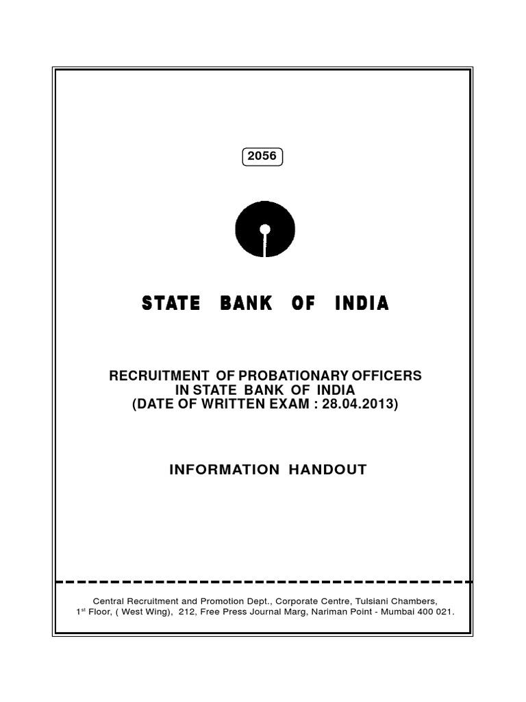 form for sbi po 2013