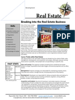Breaking Into the Real Estate Business