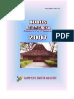 Kudus Dalam Angka 2007