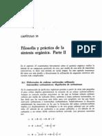Cap 33- Filosofía y práctica de la síntesis orgánica parte II